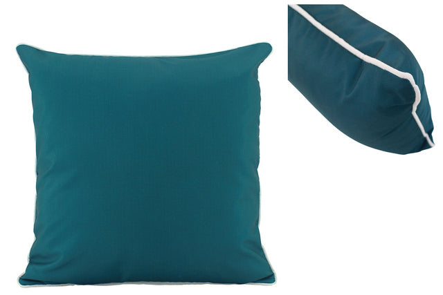 Large Teal Outdoor Cushions - pair