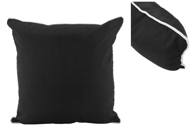 Large Black Outdoor Cushions - pair