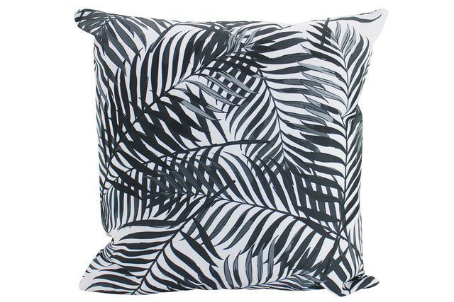 Large Black Palm Outdoor Cushions - pair