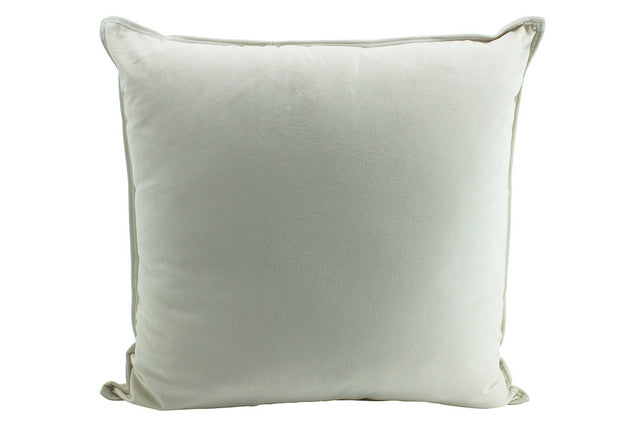 Champagne velvet cushion