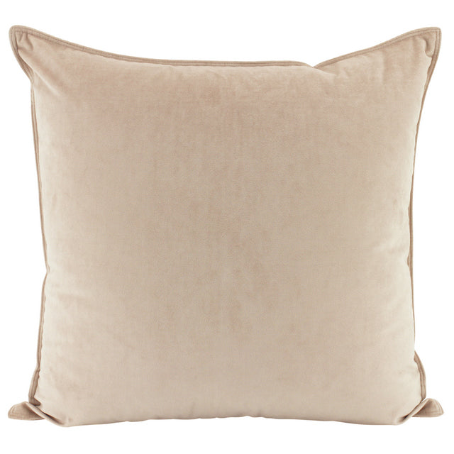 Cream velvet cushion