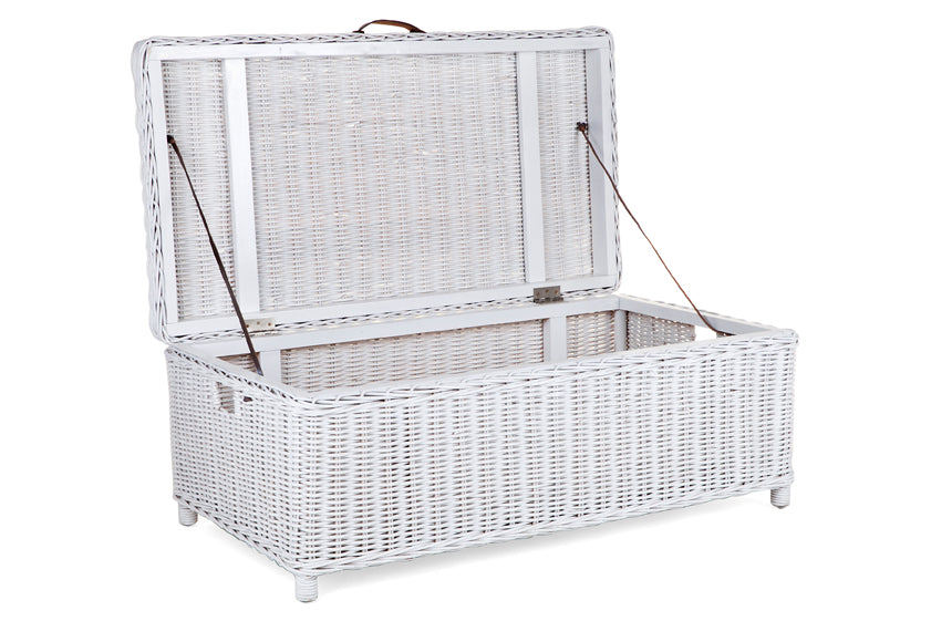 Storage Chest - white rattan