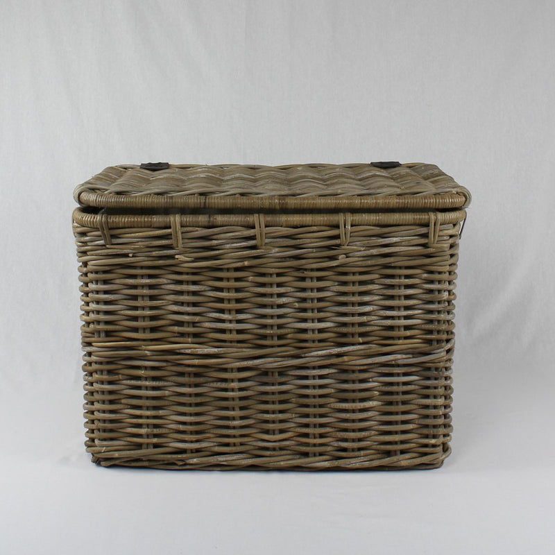 Storage Chest - grey rattan