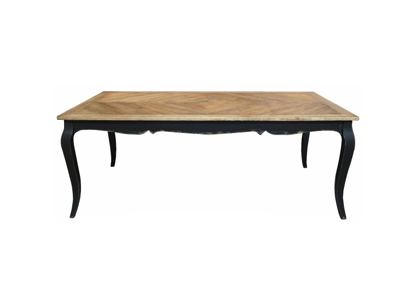 Chevron Provincial Dining Table