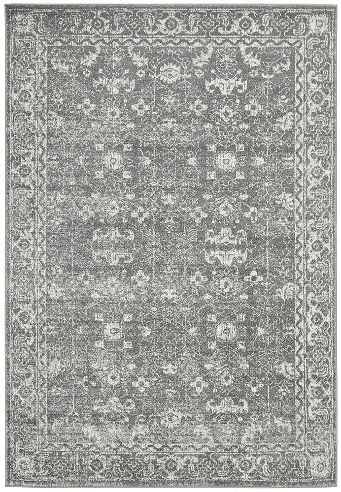 Distressed Transitional Rug - Vintage Grey