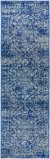 Distressed Transitional Vintage Rug - Navy