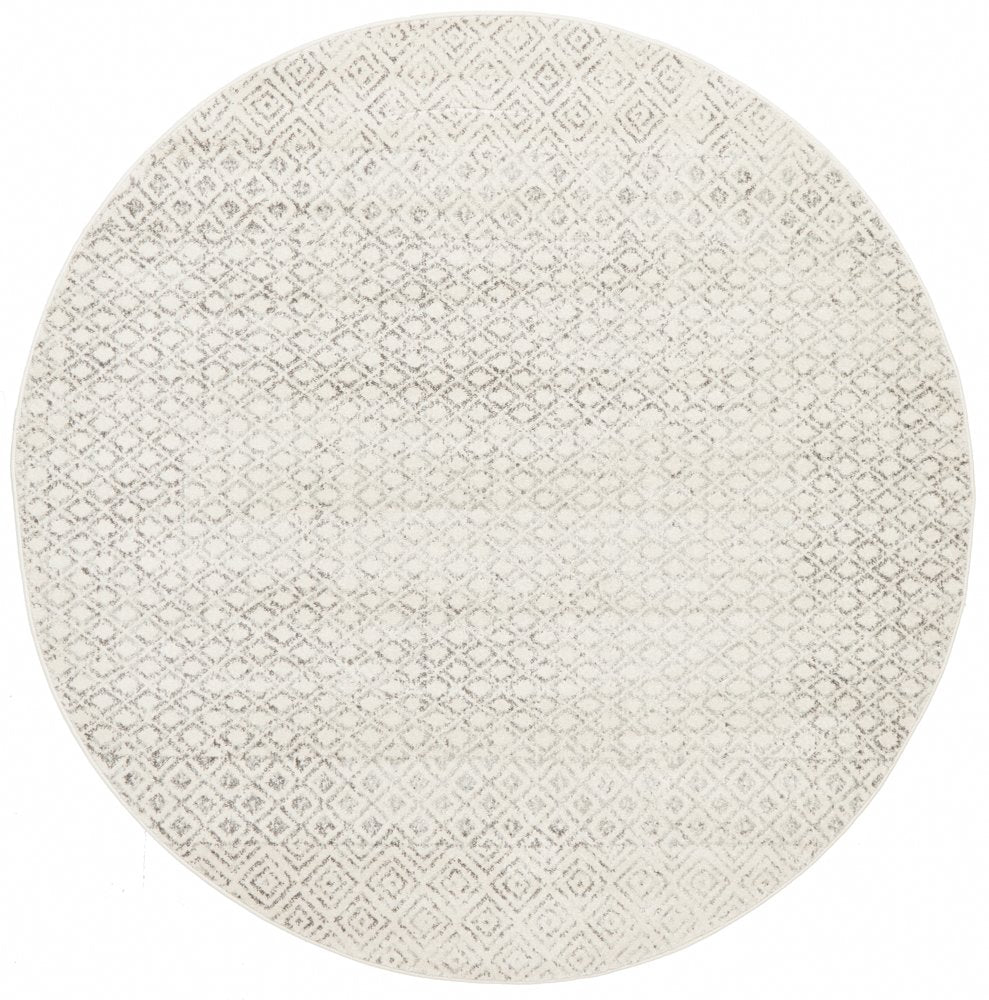 Contemporary Grey Diamond rug - round
