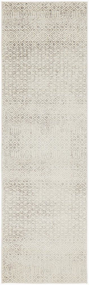 Contemporary Grey Diamond Rug - Runner
