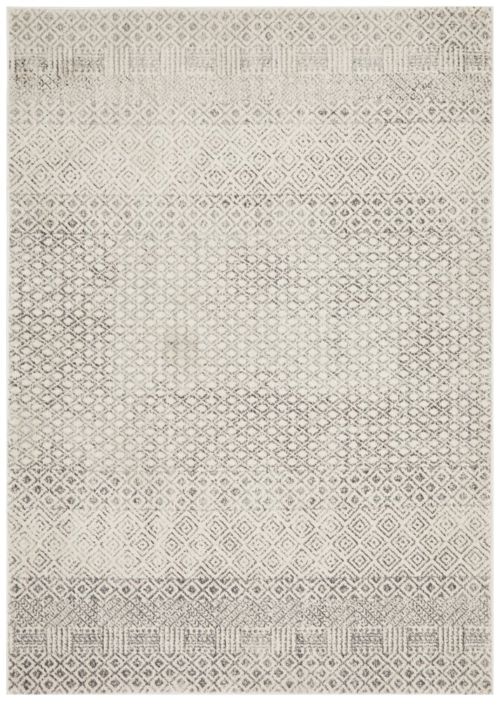 Contemporary Grey Diamond rug