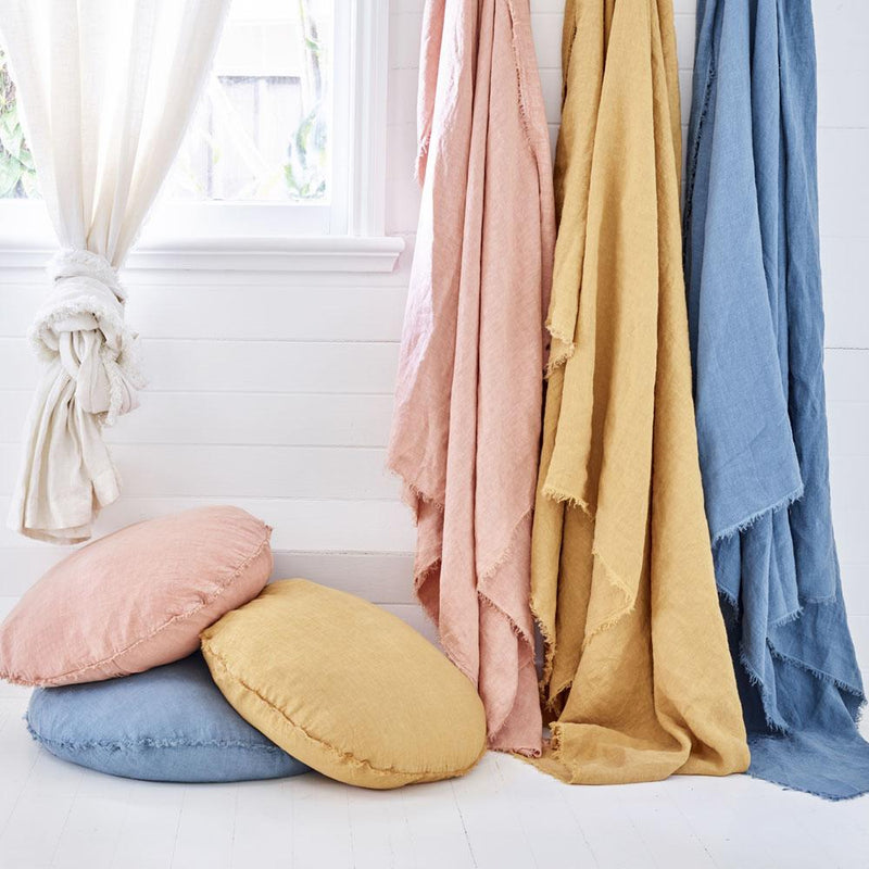 Linen Bed Throw - King Size