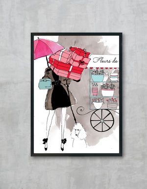 Emily shopping illustration