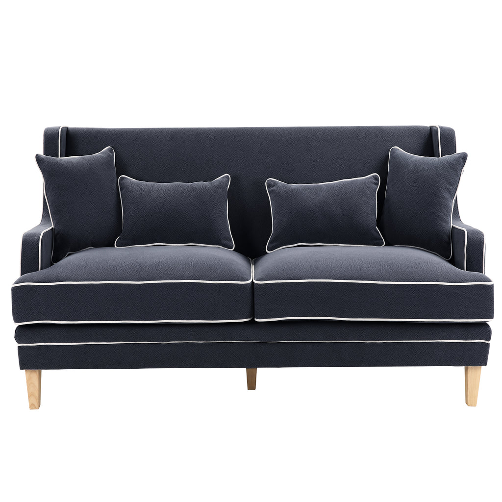Coastal navy 2 seat sofa