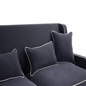Coastal navy 3 seat sofa