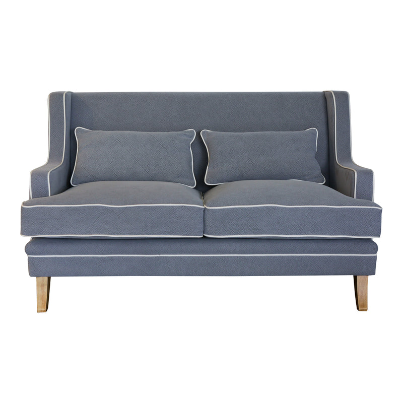 Coastal soft grey 2 seat sofa