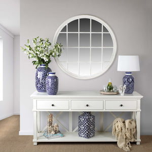 Rhode Island 3 drawer console - white