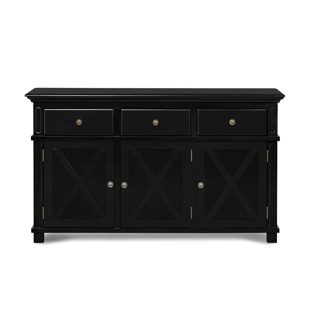 Rhode Island 3 drawer buffet cabinet - black