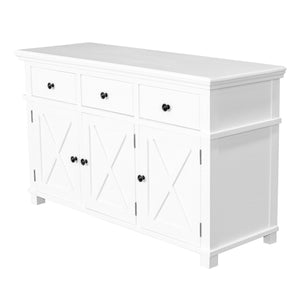 Rhode Island 3 drawer buffet cabinet - white