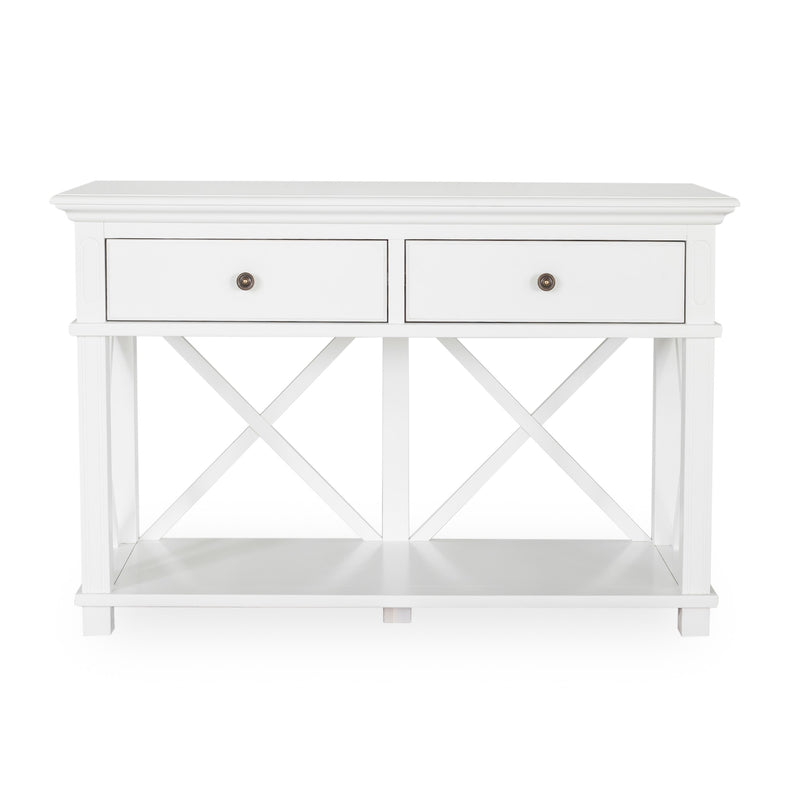 Rhode Island 2 drawer console - white