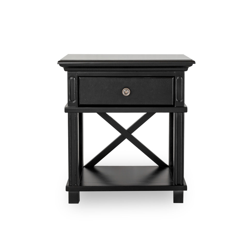 Rhode Island bedside table black