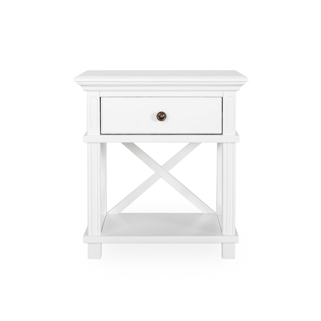 Rhode Island bedside table white
