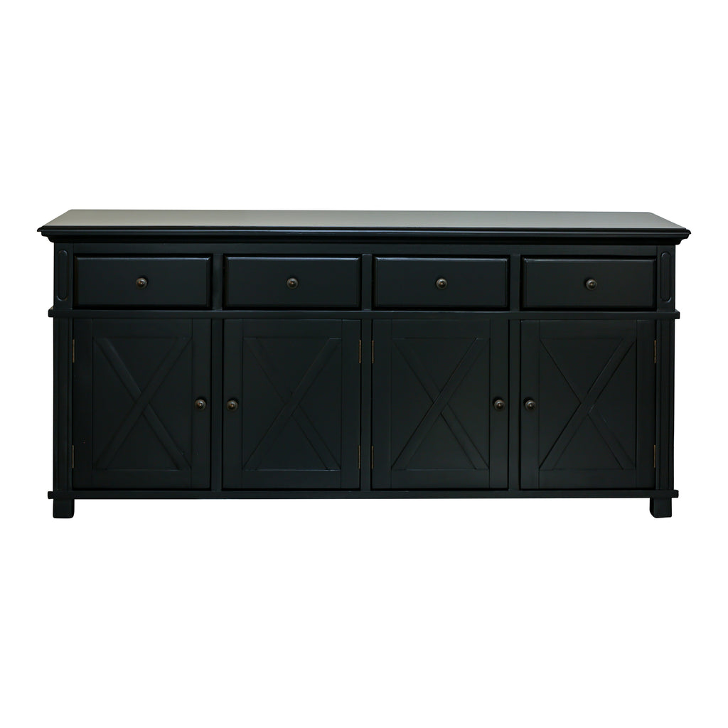Rhode Island 4 drawer buffet cabinet - black