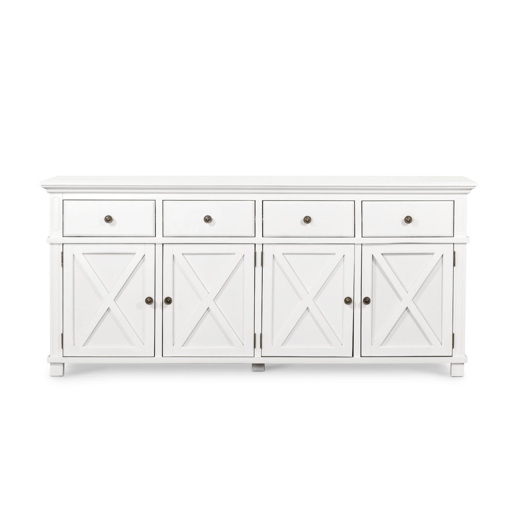 Rhode Island 4 drawer buffet cabinet - white