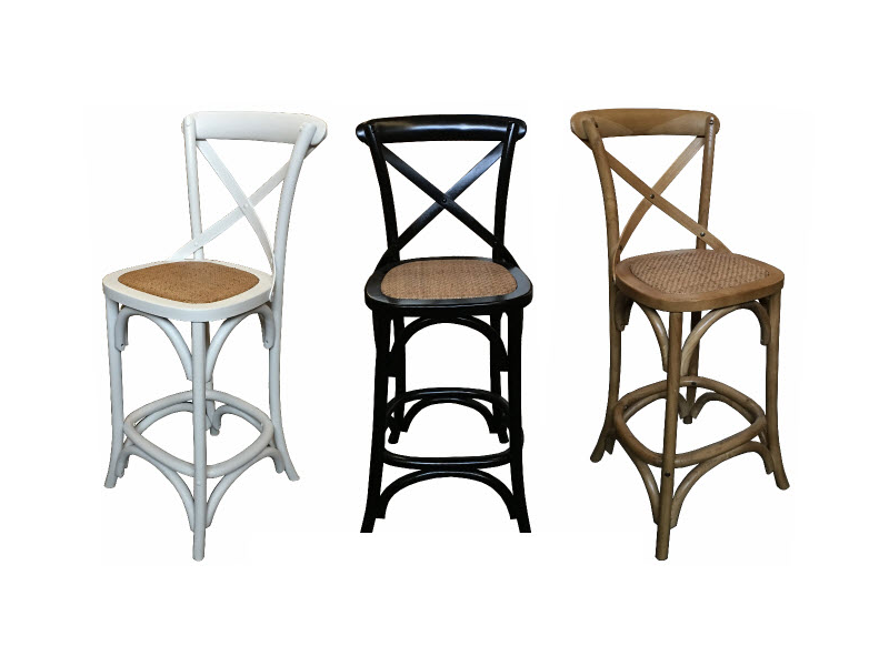 Cross back bar stools