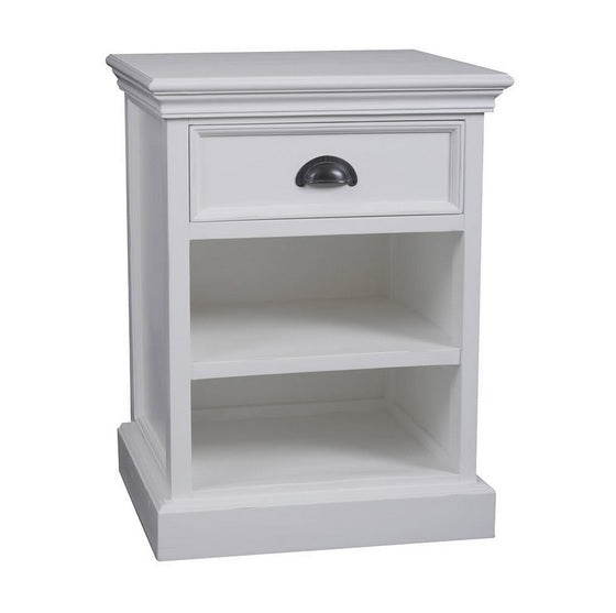 Hamptons classic one drawer bedside table