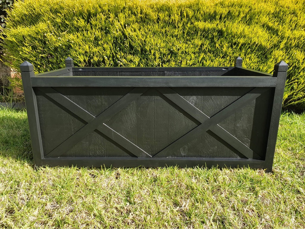 Hampton planter box long - black
