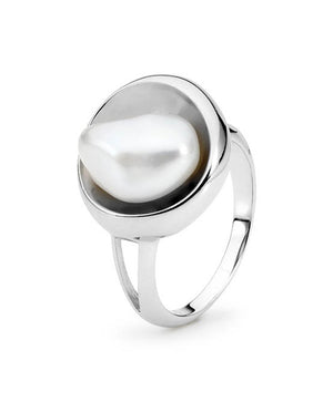 Sterling Silver Keshi Freshwater Pearl Ring
