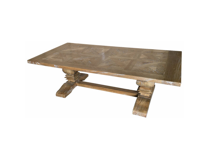 Hamptons Parquetry Elm coffee table natural