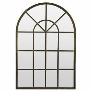 Grande Panelled Arch Mirror - Black