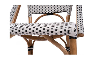 French Bistro Chair - Black and White
