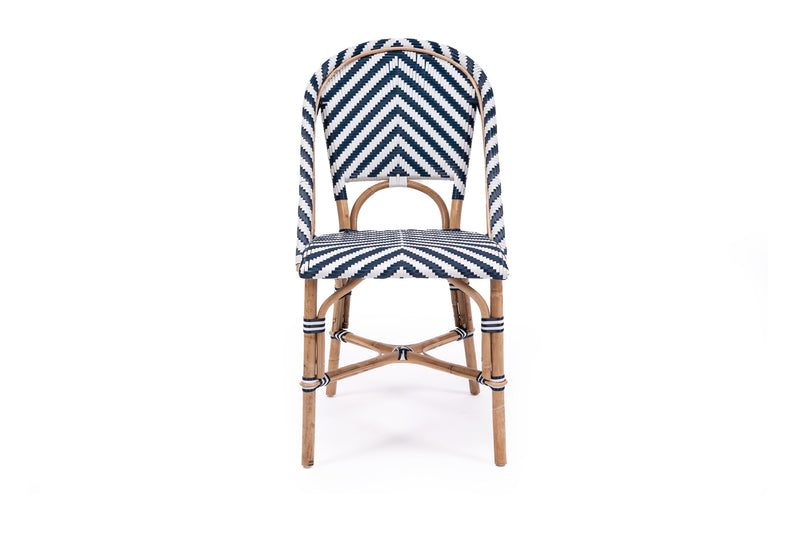 French Bistro Chair - Navy chevron