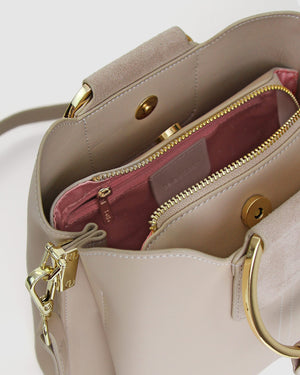 Twilight Leather Cross-Body Bag - Latte