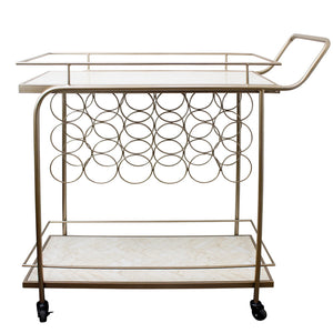 Chicago Marble Bar Cart