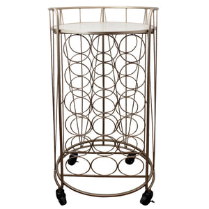 Mini Chicago Round Bar Cart