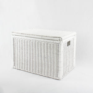 Hamptons Storage Chest - white rattan