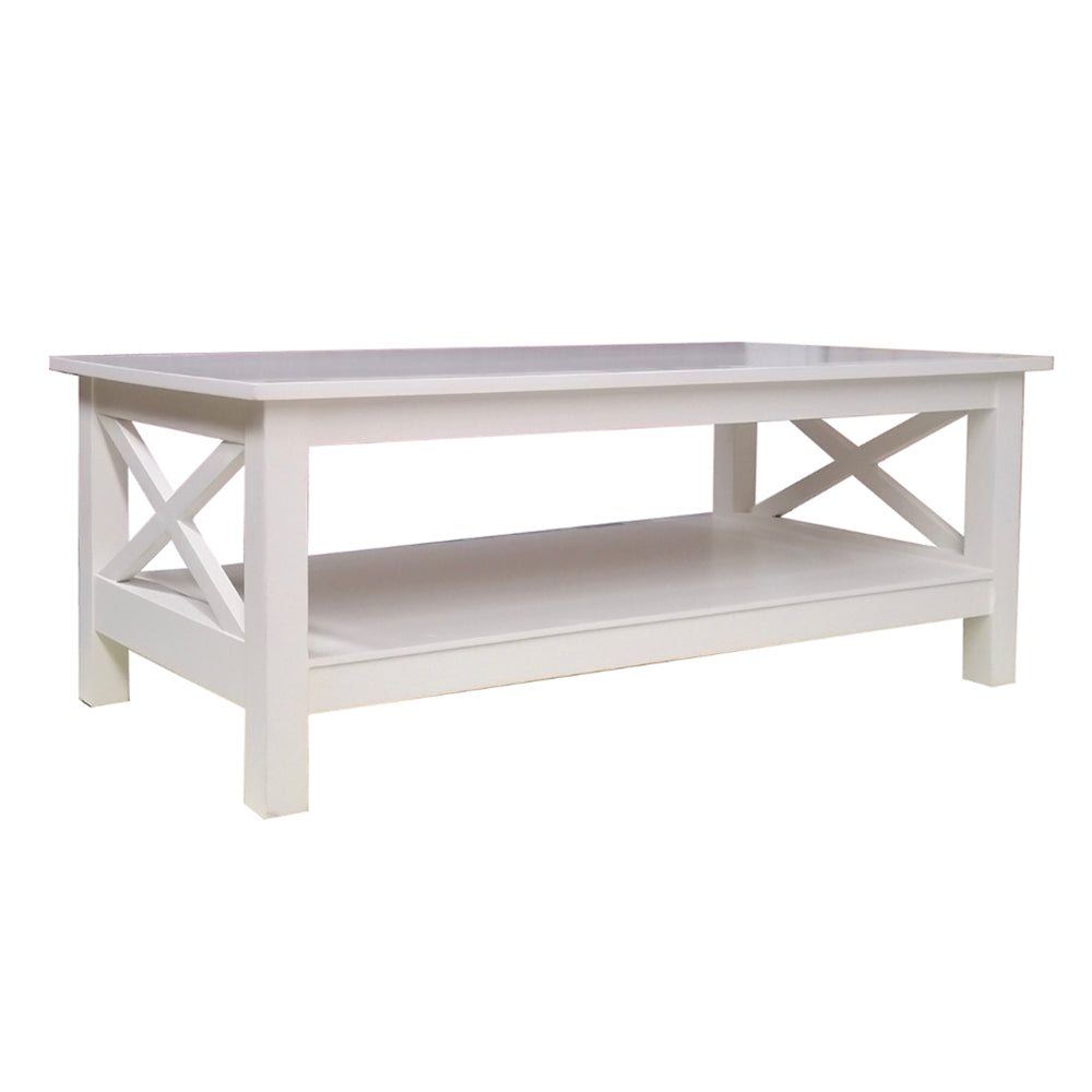 White Cross Coffee Table