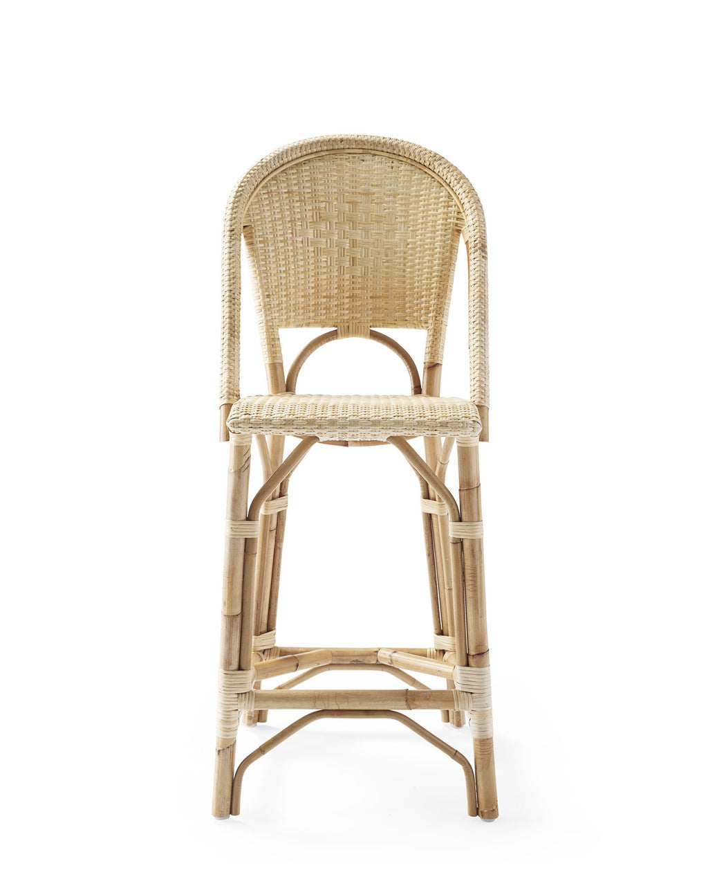 Coastal Rattan Stool - Natural