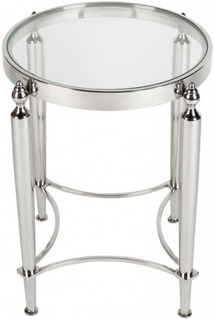 Victoria Side Table - Nickel