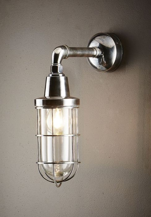 Coastal Wall Lamp - Antique Silver