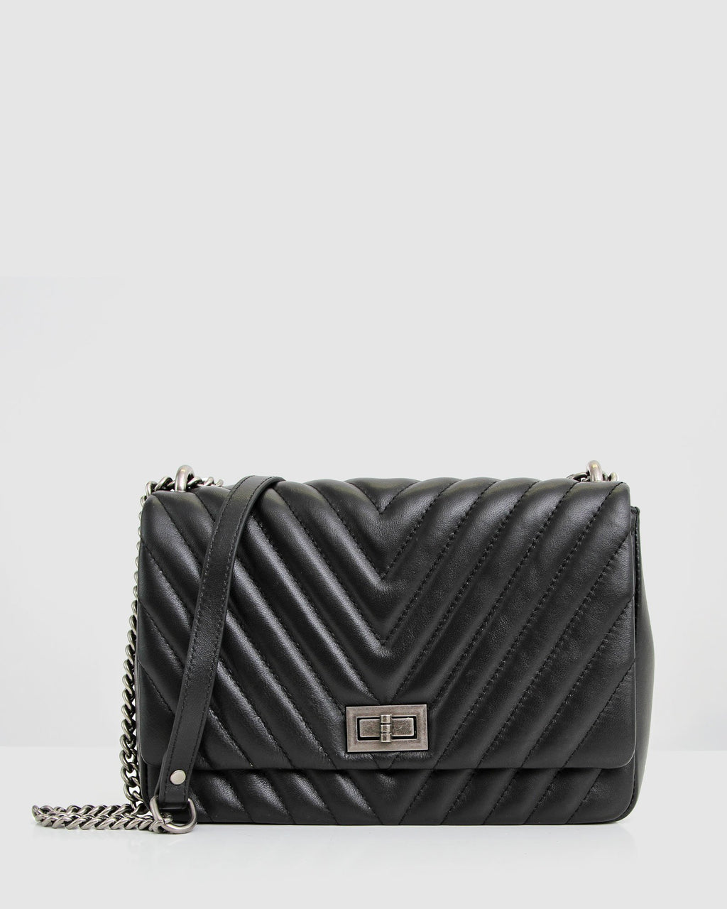 Belong to You Quilted Cross-Body Bag - Black