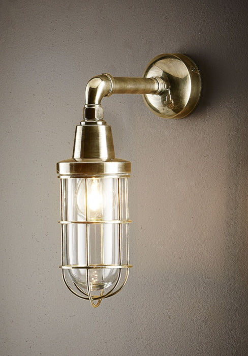 Coastal Wall Lamp - Antique Brass