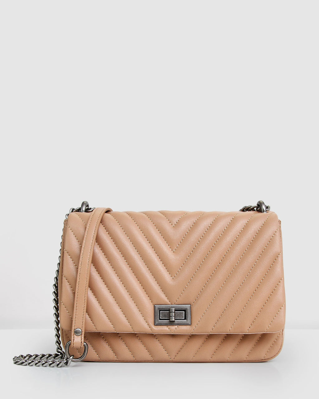 Belong to You Quilted Cross-Body Bag - Camel