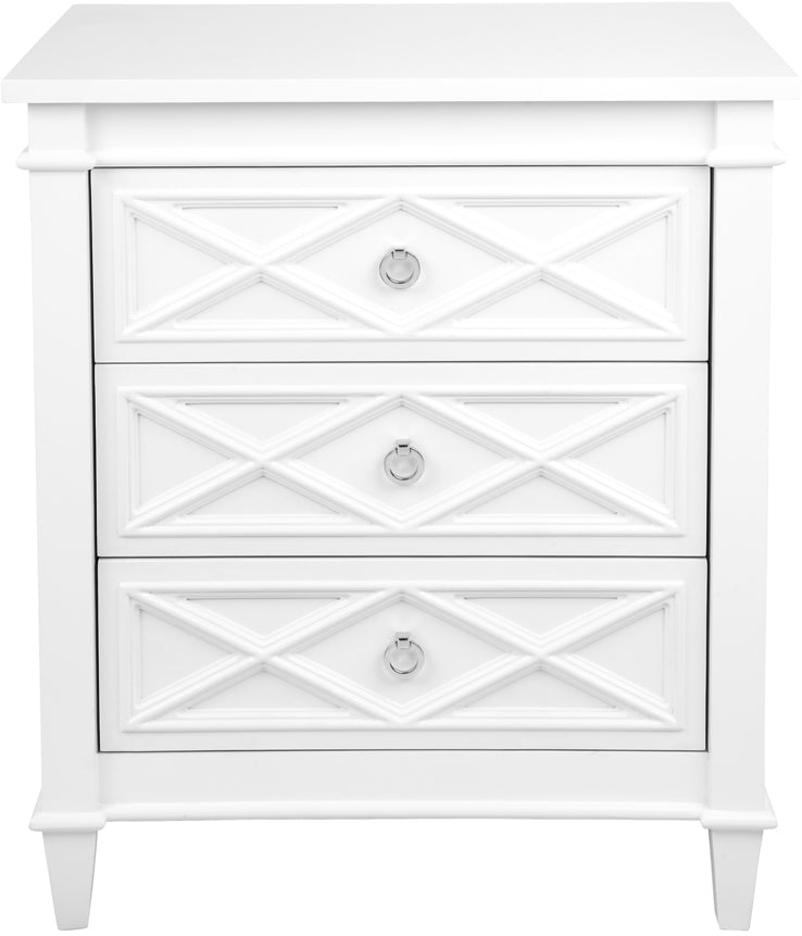Providence bedside table Large white