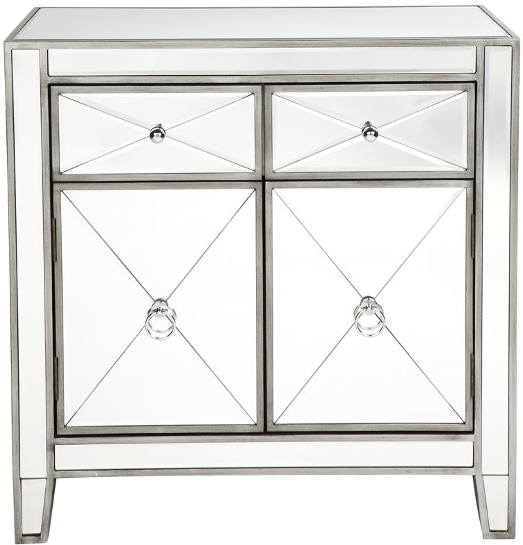 Mirrored Cabinet - Antique Silver