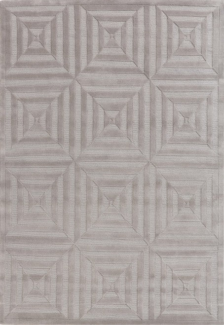Contemporary Grey Geometric rug