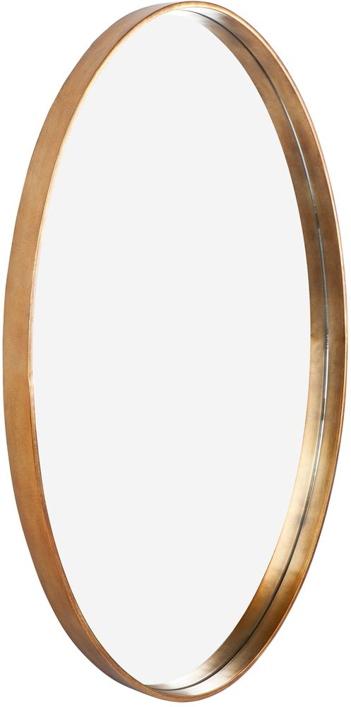 Gold Oval Mirror