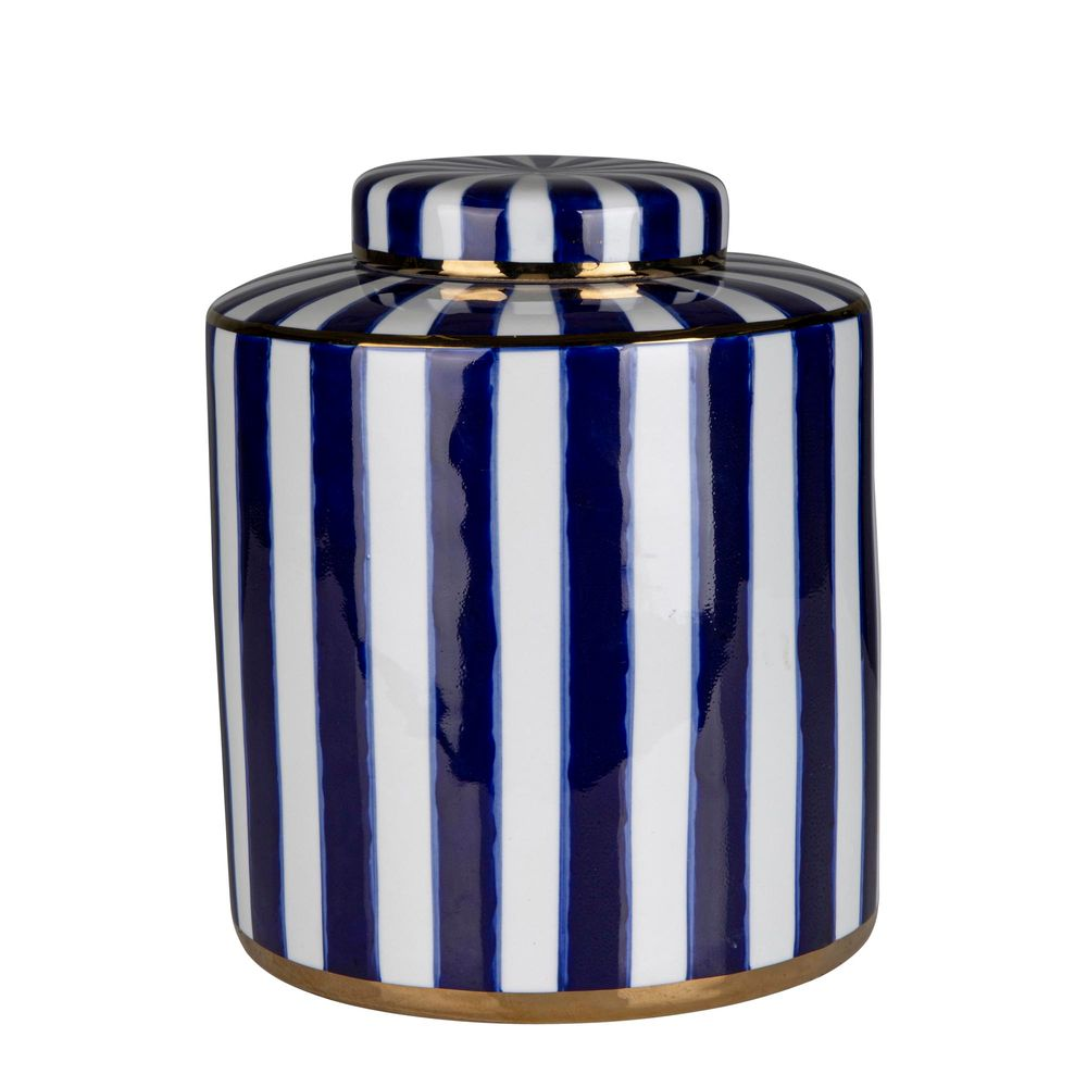 Paris striped jar